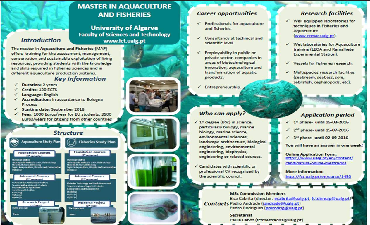 Master Aquaculture and Fisheries UALG